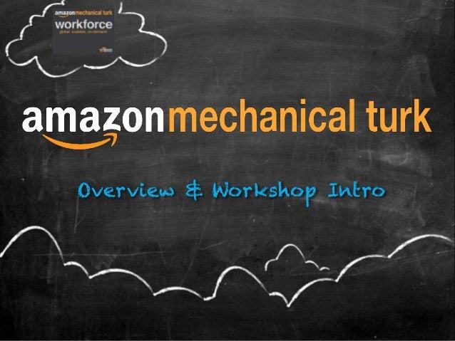 Overview & Workshop Intro