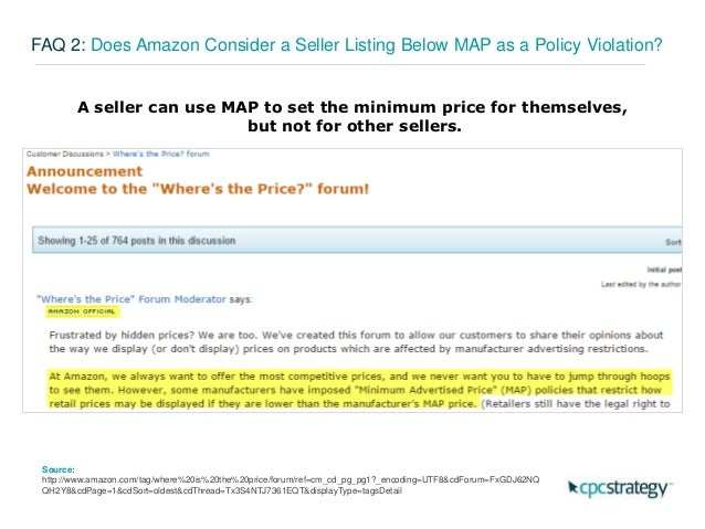 Ask An Expert How To Police Your Brand On Amazon - Map minimum advertised price