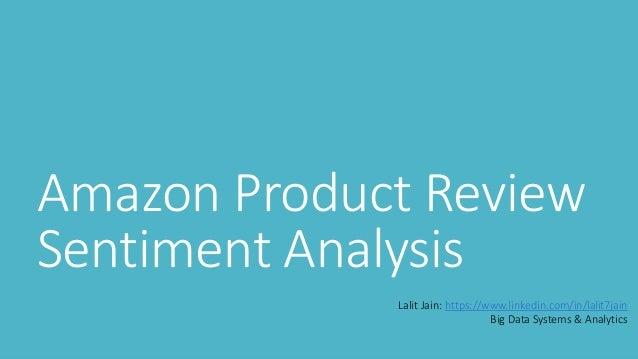 Amazon Product Sentiment review