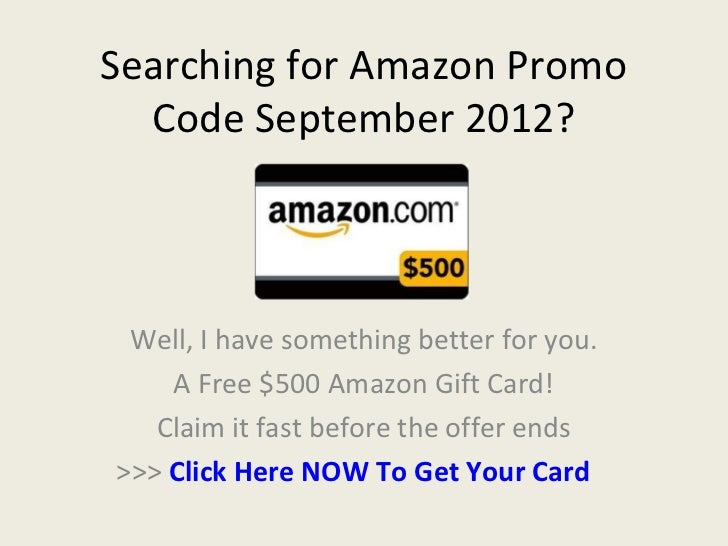 Amazon gift en promotion card