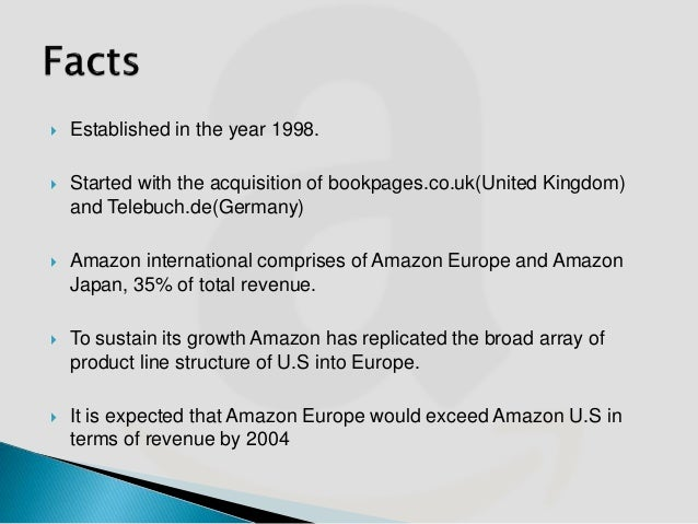 amazon com's european distribution strategy With safari, you learn the way you learn best  144 the best startup in europe we can't invest in: saul  the good jobs strategy (boston: new harvest, 2014.