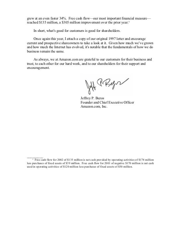 amazon letter to shareholders letter to shareholders jeff bezos 2013 letter to sh 10492 | amazon shareholder letters 1997 2011 24 638
