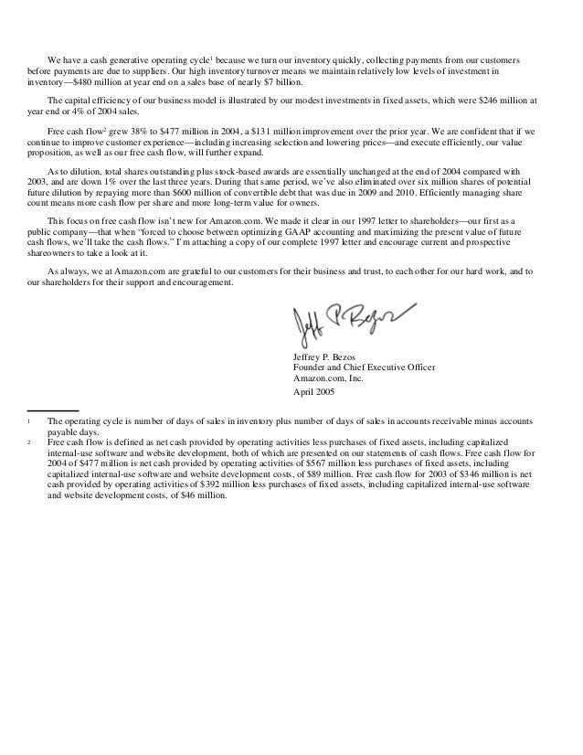 amazon letter to shareholders letter to shareholders jeff bezos 2013 letter to sh 10492 | amazon shareholder letters 1997 2011 29 638