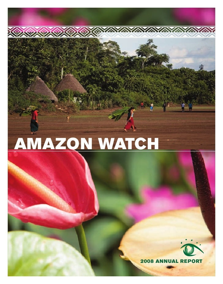 AMAZON WATCH               2008 ANNUAL REPORT