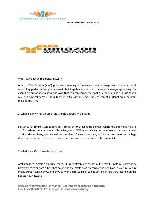 Amazon web services interview questions