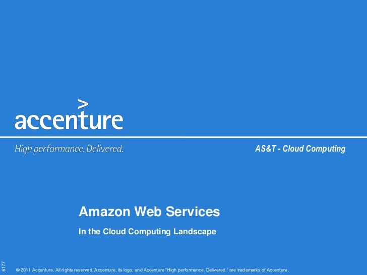 AS&T - Cloud Computing                                     Amazon Web Services                                     In the ...