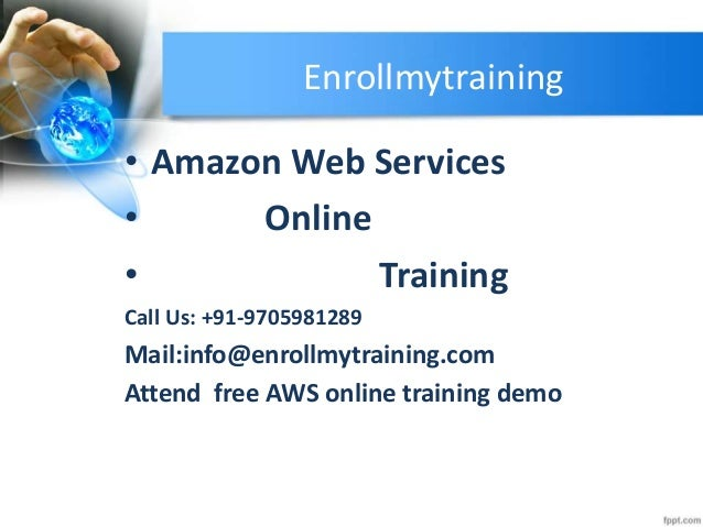 Amazon Web Services Online Training In India Usa Uk Canada Uae