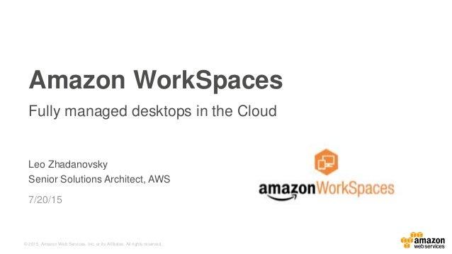 037bada7ffc4 Amazon WorkSpaces for Education