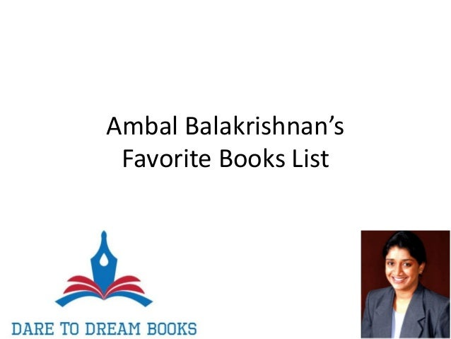 Ambal Balakrishnan's Favorite Books List