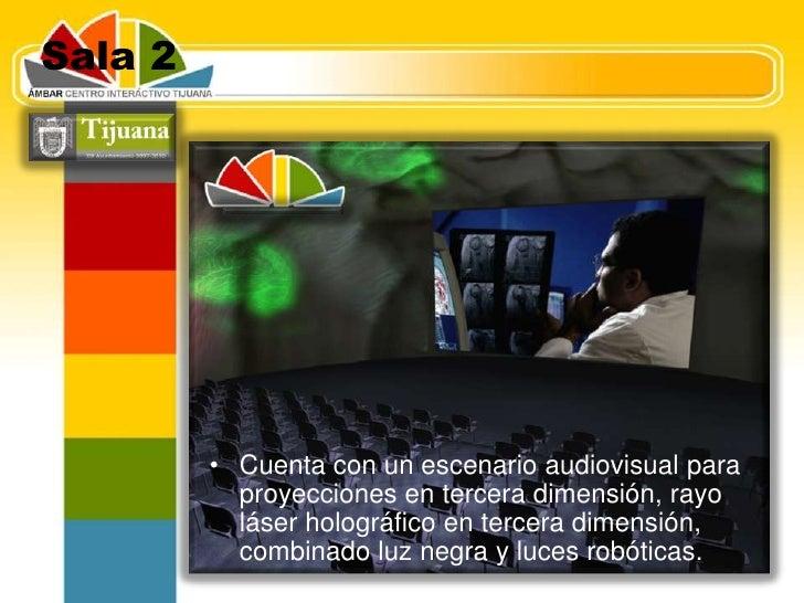 Sala 1 <br />Es un auditorio cerrado, con un escenario de 3 pantallas paralelas para video y sistema de audio digital esté...