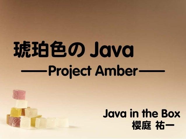 琥珀色のJava - Project Amber -