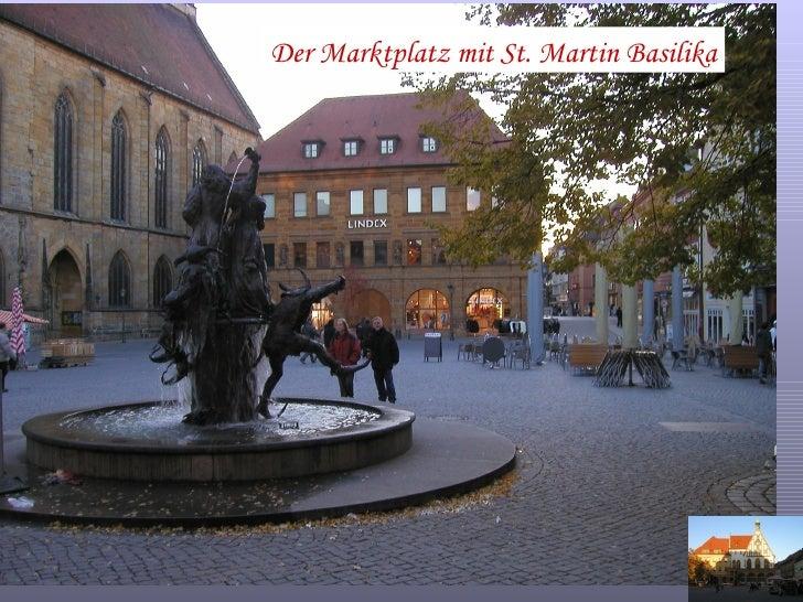 Der Marktplatz mit St. Martin Basilika