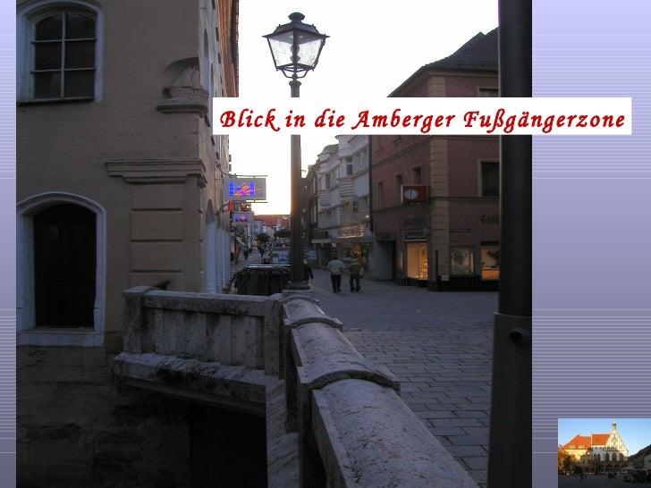 Blick in die Amberger Fußgängerzone