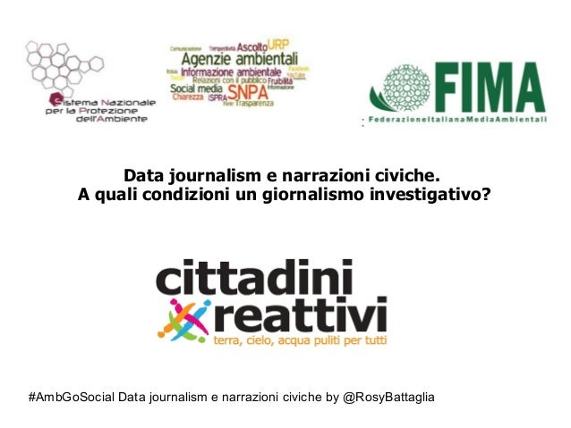 "#AmbGoSocial Data journalism e narrazioni civiche by @RosyBattaglia "" Data journalism e narrazioni civiche. A quali condiz..."