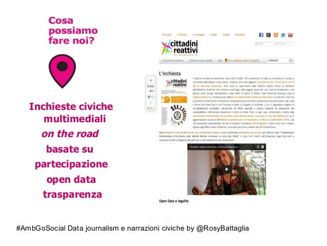 #AmbGoSocial Data journalism e narrazioni civiche by @RosyBattaglia Inchieste civiche multimediali on the road basate su p...
