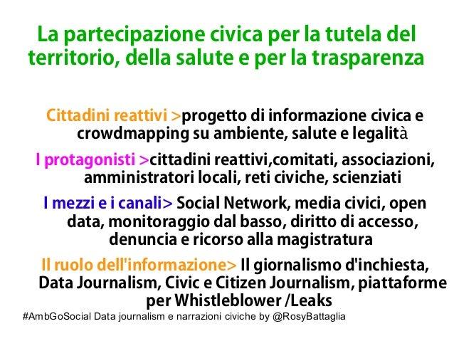 #AmbGoSocial Data journalism e narrazioni civiche by @RosyBattaglia La partecipazione civica per la tutela del territorio,...