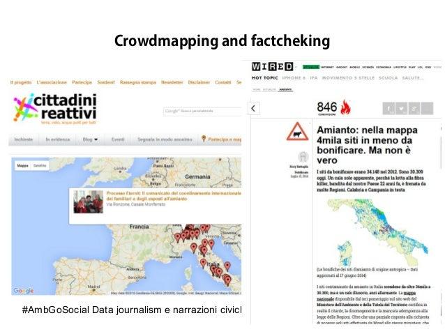 #AmbGoSocial Data journalism e narrazioni civiche by @RosyBattaglia Crowdmapping and factcheking