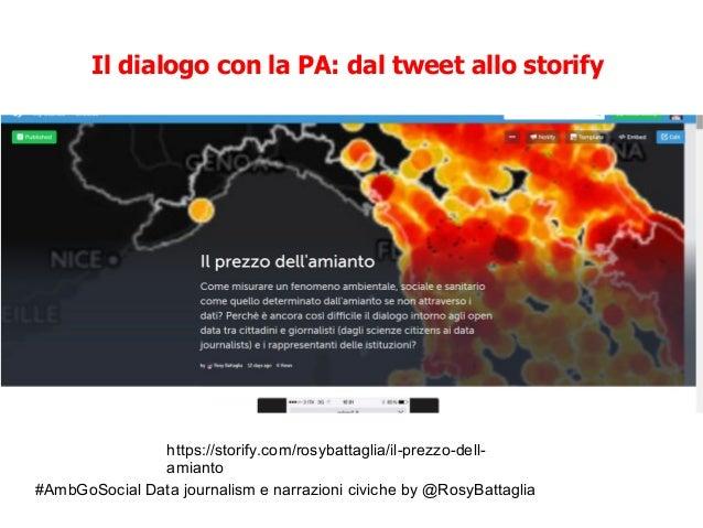#AmbGoSocial Data journalism e narrazioni civiche by @RosyBattaglia Il dialogo con la PA: dal tweet allo storify https://s...