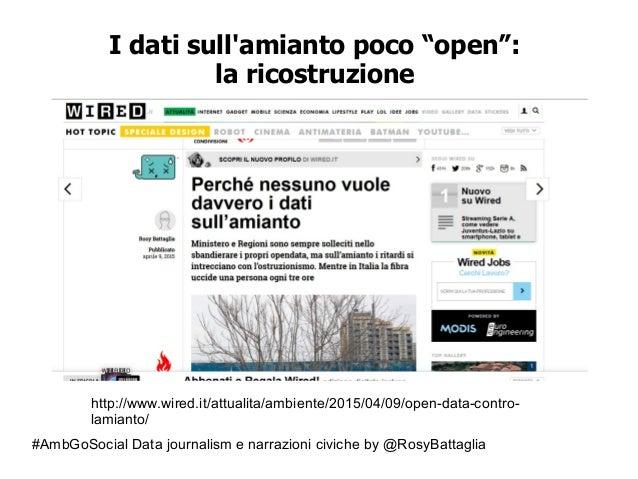 """#AmbGoSocial Data journalism e narrazioni civiche by @RosyBattaglia I dati sull'amianto poco """"open"""": la ricostruzione http..."""