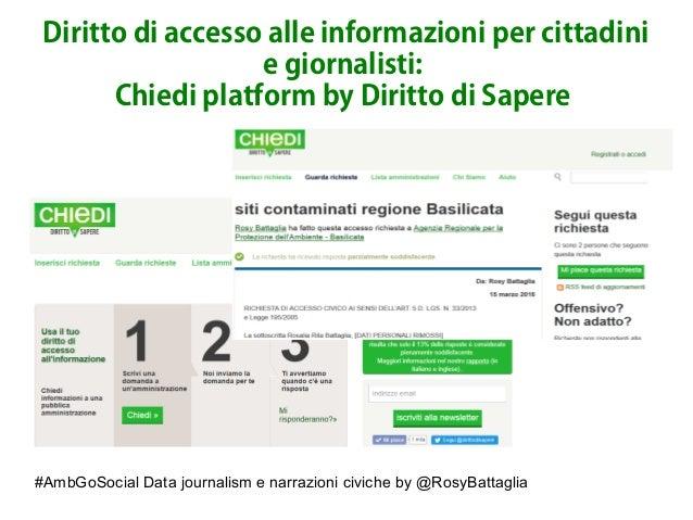 #AmbGoSocial Data journalism e narrazioni civiche by @RosyBattaglia Diritto di accesso alle informazioni per cittadini e g...