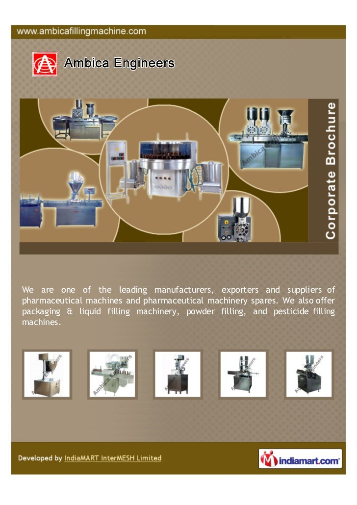 We are one of the leading manufacturers, exporters and suppliers ofpharmaceutical machines and pharmaceutical machinery sp...