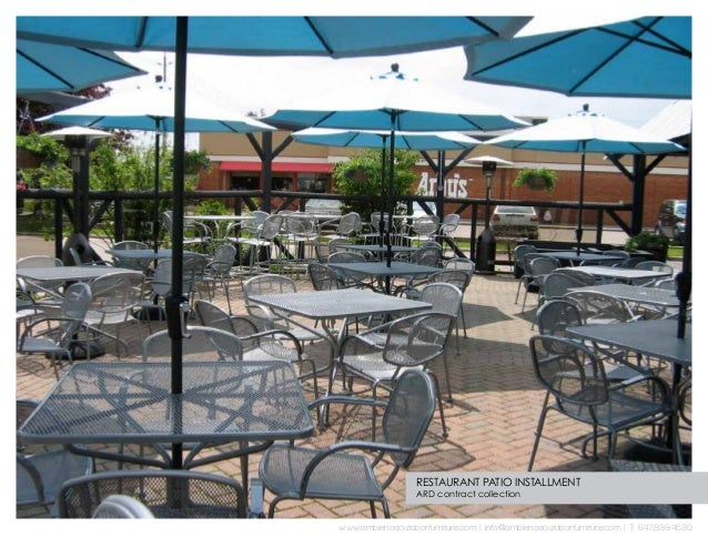 Ambience Outdoor Furniture Commercial - Restaurant outdoor furniture
