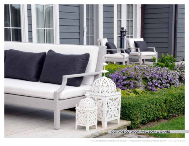 Charming COTTAGE OUTDOOR PATIO SOFA U0026 CHAIRS ...