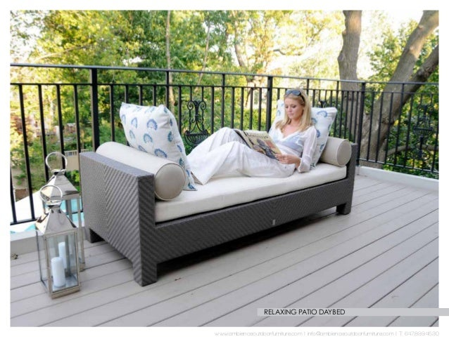 18 relaxing patio daybed