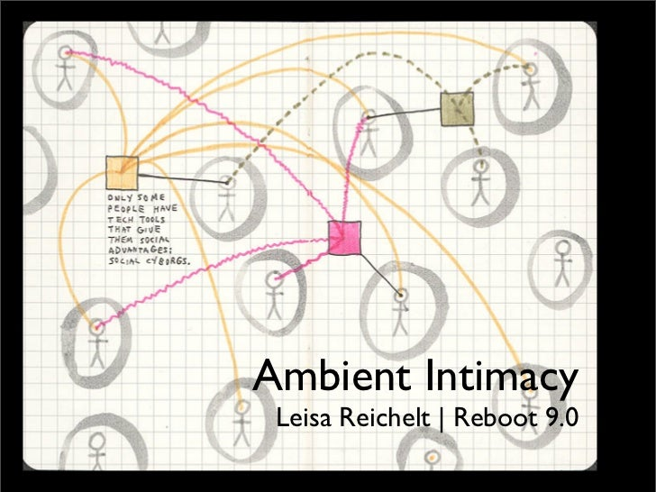 ambient intimacy       leisa reichelt     disambiguity.com       Ambient Intimacy       Leisa Reichelt | Reboot 9.0