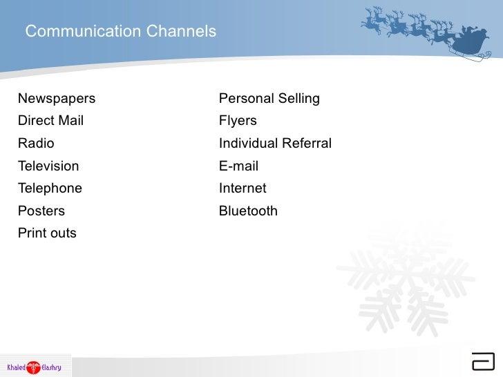 Communication Channels <ul><li>Newspapers Personal Selling </li></ul><ul><li>Direct Mail Flyers </li></ul><ul><li>Radio In...