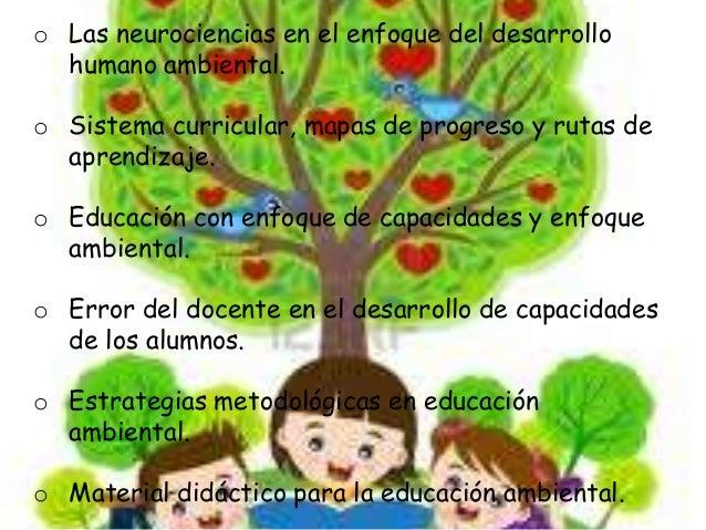 o Las neurociencias en el enfoque del desarrollo  humano ambiental.  o Sistema curricular, mapas de progreso y rutas de  a...