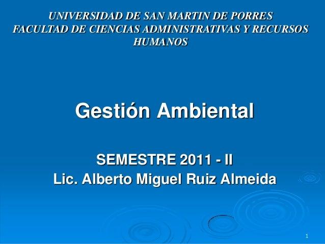 UNIVERSIDAD DE SAN MARTIN DE PORRESFACULTAD DE CIENCIAS ADMINISTRATIVAS Y RECURSOS                   HUMANOS         Gesti...