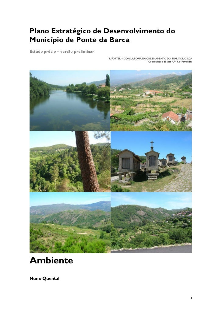 Plano Estratégico de Desenvolvimento doMunicípio de Ponte da BarcaEstudo prévio – versão preliminar                       ...