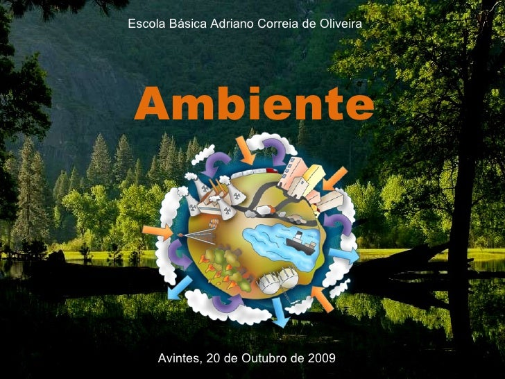 Ambiente Escola Básica Adriano Correia de Oliveira Avintes, 20 de Outubro de 2009