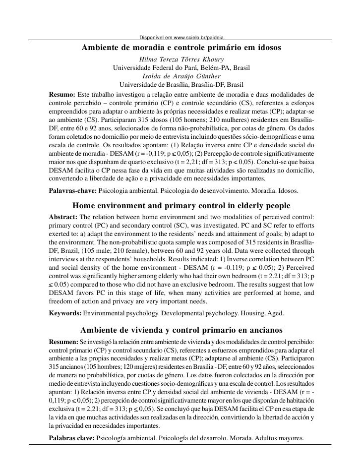 Khoury, H. T. T. & Günther, I.A. (2008). Ambiente de Moradia            53                                  Disponível em ...