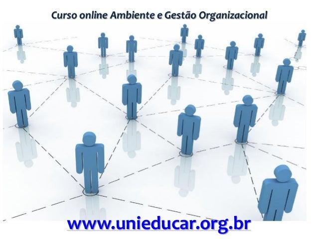 Curso online Ambiente e Gestão Organizacional www.unieducar.org.br