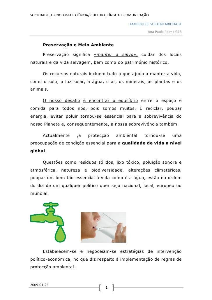 SOCIEDADE, TECNOLOGIA E CIÊNCIA/ CULTURA, LÍNGUA E COMUNICAÇÃO                                                      AMBIEN...