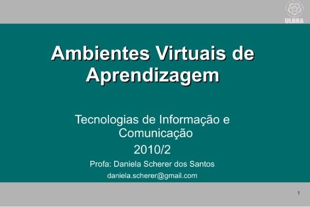 Ambientes virtuaisaprendizagem