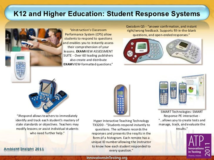 K12 and Higher Education: Student Response Systems                                                                        ...
