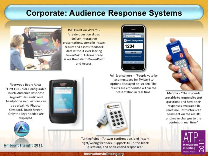Corporate: Audience Response Systems                                    IML Question Wizard -                             ...