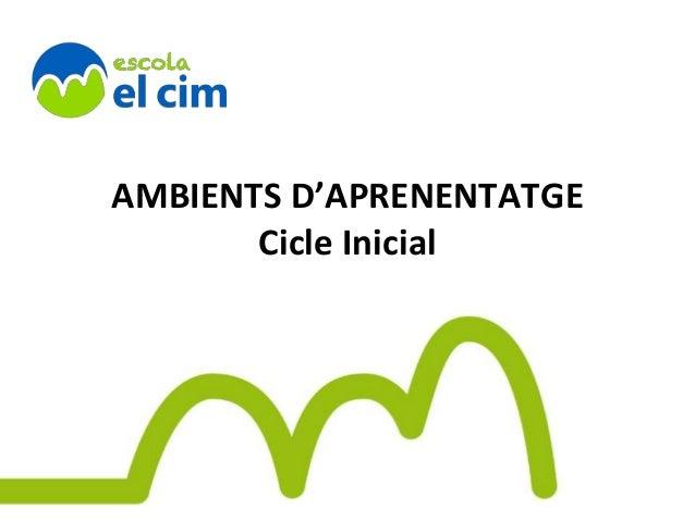 AMBIENTS D'APRENENTATGE Cicle Inicial