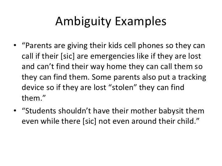 Ambiguity Lesson1