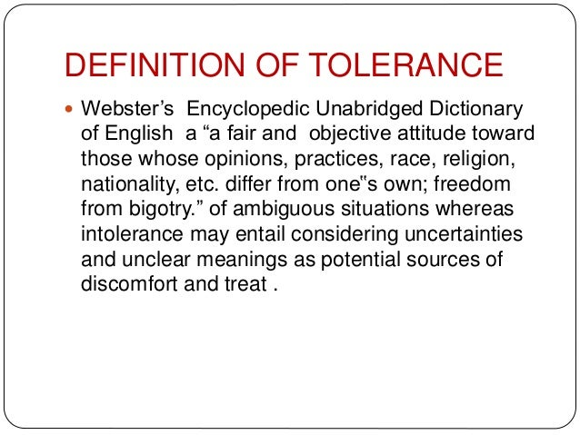 the meaning of tolerance essay