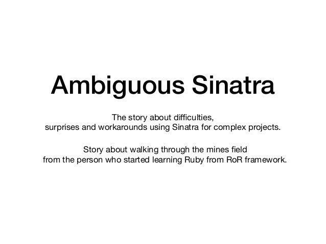 Ambiguous Sinatra - Vadim Evseev Slide 2