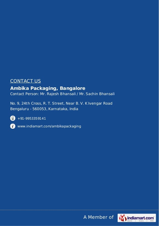 Ambika Packaging, Bangalore, Packaging Container