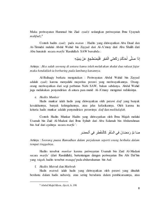Contoh Hadits Dhaif Mursal 23
