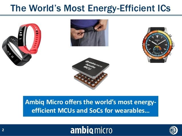 How lower power consumption is transforming wearables and enabling new and different use cases: a conversation with Ambiq Slide 2