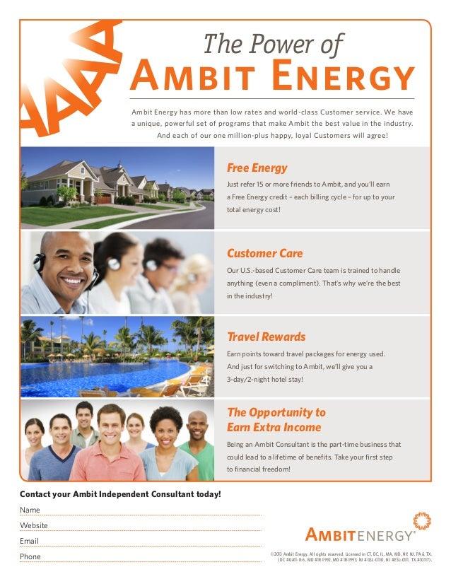 Ambit Energy Login >> Ambit Energy Benefits Flyer