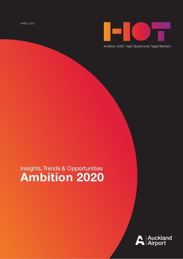 AMBITION 2020 1Ambition 2020: High Opportunity Target MarketsInsights,Trends & OpportunitiesAmbition 2020APRIL 2013