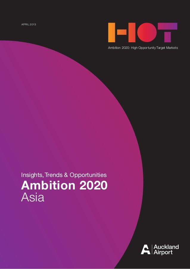AMBITION 2020 1APRIL 2013Ambition 2020: High Opportunity Target MarketsInsights,Trends & OpportunitiesAmbition 2020Asia